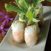 海老と水菜のベトナム生春巻