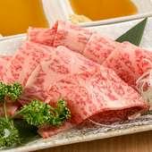 口の中でとろける肉の甘みがたまらない『但馬太田牛の牛刺し』