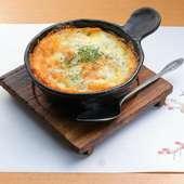 香ばしいポテトとチーズは相性抜群『千切りポテトのチーズ焼』