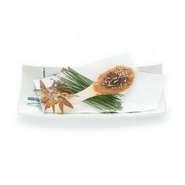 新潟の名産で布海苔という海草をつなぎに使った珍しい緑色のそばです。味は普通のそばよりコシがあり、ツルッとした食感が特徴です。小:1080円 / 中:2160円 / 大:3240円