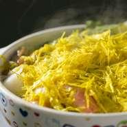 タピオカのもちもち触感が楽しめる漢方入りスタミナ鍋です。