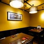 個室も用意、周囲を気にせず重要な商談や会食が可能