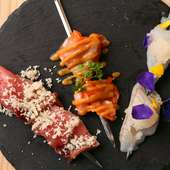 レア状に焼き上げた『魚串』は素材そのものの旨みが魅力