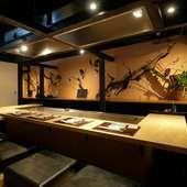 落ち着きのある二階は、接待や会食など大切な席に最適