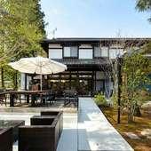軽井沢の爽やかな空気に包まれた憩いの空間で味わう会席料理