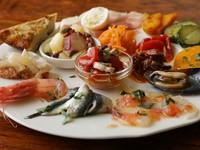 色々な味わいを楽しめる『前菜の盛り合わせ』