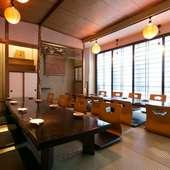 2階・3階は貸し切り可能な宴会スペース
