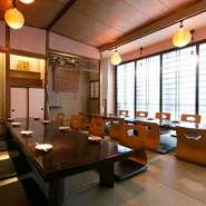 2階と3階はそれぞれ60席。会社単位での宴会や同窓会など、大人数での利用に真価を発揮してくれます。各フロア貸し切りの利用も歓迎のため、幹事の方を気軽に相談を。