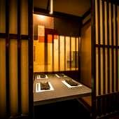接待やデートに。和の伝統を受け継いだ上質な個室席