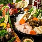 肉の旨みを堪能できる『豪華名古屋コーチンのすき焼き』