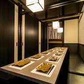 接待にも最適な個室で静かに飲食ができ、商談もスムーズに