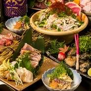 「名古屋コーチン」の名店が渋谷に! 日本三大地鶏である最高級ブランド「名古屋コーチン」や、市場直送の魚介類などが満載のコースはとてもリーズナブル。一流職人の贅沢食材を使った創作料理が堪能できます。