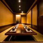 渋谷で希少な完全個室を多数完備! 駅から徒歩2分の立地も◎です。歓送迎会などが多い団体様向けの宴会にもフレキシブルに対応してもらえるので幹事様必見。人気の3H飲み放題付きコースはゆっくりと語らえます。