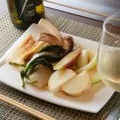 お客さまのほとんどがご注文。そのおいしさが自慢の『焼き野菜』