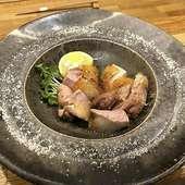 トリュフ塩で頂く炭火網焼きの逸品 大和肉鳥