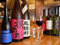 おすすめの日本酒やワインで、料理をより美味しく堪能