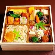 和食お弁当を1,600円(税別)~ご用意。 ご注文は同一商品4個以上より、配達は10個より承ります。