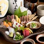少し甘めの九州しょう油でいただく、旬の海の幸『天然魚の刺盛(3人前)』