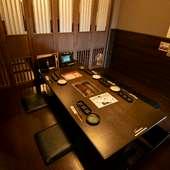 格式を感じさせる洗練された個室は、おもてなしの席にも最適