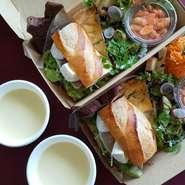 季節のスープ オードブルやランチボックスとご一緒に。 一人前です。  写真のランチボックスはついていません。