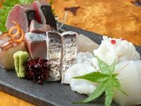 新鮮で種類豊富な魚介を一皿で堪能、味覚や食感、季節感などさまざまな視点から楽しめる『造り盛り合わせ』