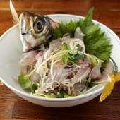旬の釣り魚を一番美味しいタイミングで『本日の刺身』