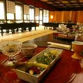 神社境内にある当屋ならではの、優雅でゆったりしたご宴席。