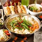 お手軽な宴会からお腹を満足させる宴会まで、幅広いコースあり