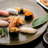 日本各地から厳選した鮮魚を、贅沢に使用した『特上にぎり』