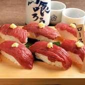 馬肉料理のシメはこちら!『特選桜肉のにぎり寿司6貫』