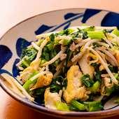 からしの風味香るシャキシャキ青野菜炒め『チキナーチャンプルー』