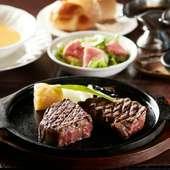 2つのステーキを味わえる『特上テンダーロインと特上サーロインのハーフ&ハーフセット』