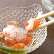 自家製の発酵調味料を生かしたメニューが充実しています。発酵調味料は食材の旨味を引き出す上、腸内環境を整えると言われているなど、嬉しい魅力が満載! 日本食の良さを再発見できます。