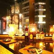 2人きりの時間を楽しみたいデートに最適。夜景が見える席で普段とは違うワンランク上のデートをお楽しみいただけます♪3h飲み放題付きコースは2,980円~各種ご用意致しております!