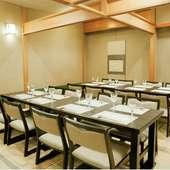 最大23名までの宴席や貸切にも対応できる、京座席「桐の間」