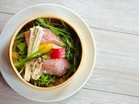 蒸してプリプリの赤魚と旬のお野菜をヘルシーに。