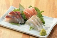 本日水揚げされた鮮魚を3種盛りでご提供。