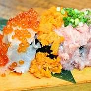 女性に喜ばれるハーフサイズのこぼれ寿司です。