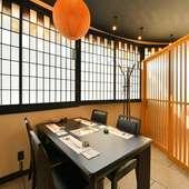 接待・会食に最適な完全個室とコース料理を用意