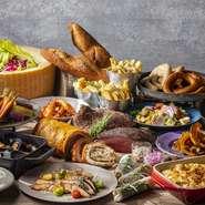 知多ハッピーポークや奥三河鶏、鮪やブリ、フレッシュな地元野菜など地場の食材を使用。三河みりん、八丁味噌などのローカルな調味料も積極的に使用されています。愛知・岐阜・三重などのおいしいものを紹介。