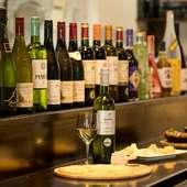 デートの食事と最適なワインが揃っている。まずは乾杯から
