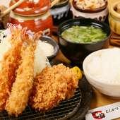海老フライとヒレカツの美味しい饗宴!『海老ひれ定食』