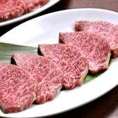 柔らかさ、脂の旨味のバランスがちょうどいい『仙台牛カルビ』