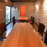 個室完備 周囲を気にせずゆったりと特別な時間を過ごせるお店