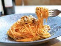 さっぱりとした仕上がりが人気『生ウニのクリームスパゲティ』