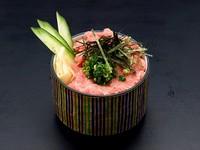 ・ポテトサラダ ・モロヘイヤとオクラの梅肉和え ・海鮮酢の物