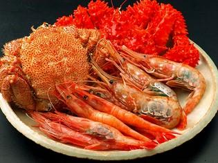 新鮮で濃厚な旨み満載。北海道の海の幸をご賞味あれ