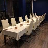 大人数でのお食事等をお考えのお客様は事前にご予約頂ければ、写真のように席をご用意することが可能です。