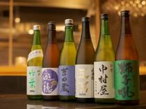 日本酒、ワイン…。合わせるお酒はお好みで