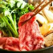 【人気メニュー】厳選霜降り佐賀牛のすき焼き